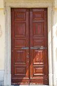 Abstract   santo macario rusty brass brown knocker  lombardy ita — Stock Photo