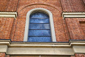 Cairate cross church varese italy the old rose window — Stok fotoğraf