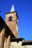 Castiglione olona old   church tower bell sunny day — Stock Photo