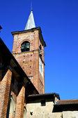Castiglione olona old   church tower bell sunny day — Stock Photo
