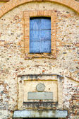Church  tradate  taly the old rose window — Stock Photo