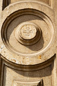 Lonate pozzolo lombardy   wall of a curch circle  pattern  cross — Stock Photo