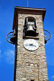 Besnate old   wall  and church tower bell sunny day — Stock Photo