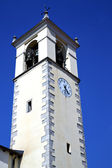 Sumirago  abstract in  italy   and church tower bell sunny day — Stock Photo