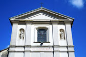 Sumirago cross church varese italy   wall in the sky sunny day — Стоковое фото