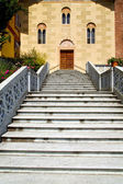 Day italy church tradate  varese  door entrance and windows — Stock Photo