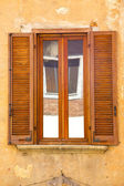 Reflex besnate window  varese italy abstract — Stock Photo