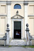 Italy  church  varese  the old door entrance — Stock Photo