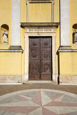 Italy church  varese  the old door  daY solbiate arno — Stock Photo