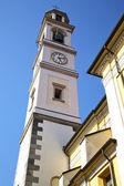 Vedano olona   church tower bell sunny day  — Stock Photo