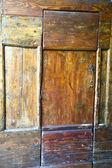 venegono abstract  rusty   door c   closed wood  italy  varese — Stock Photo