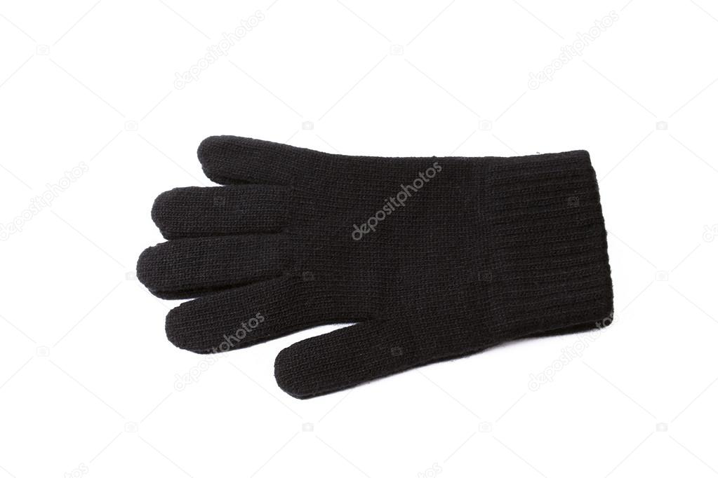 Black gloves on the white background — Stock Photo #14084053