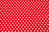 Hearts on the red background — Stock Photo