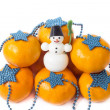 Christmas on the white background - Foto Stock