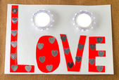 Amor no fundo branco — Fotografia Stock