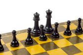 Chess on the white background — Stock Photo