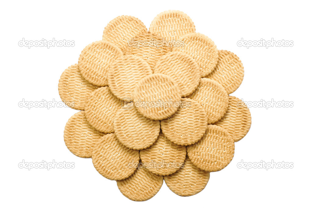 Cookies on the white background — Stock Photo #20039063