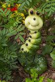 Caterpillar on the white background — Stock Photo