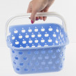 Basket on the white background — Stock Photo