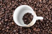 Kawa na białym tle — Zdjęcie stockowe