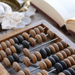 Royalty-Free Stock Photo: Still life with vintage wooden abacus