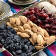 Mixed dried fruits and nuts in oriental style — Stock Photo