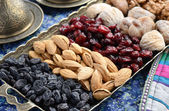 Mixed dried fruits and nuts in oriental style — Foto Stock
