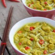 Two bowls with laksa lemak - malasyan noodle soup — Stock Photo