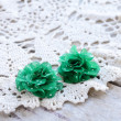 Green flowers hair pins — Stock Photo #24072013
