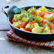 Homemade zucchini and tomato ragout — Stock Photo