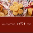 Stock Photo: Apple cinnamon cookies collage with copy space