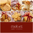 Stock Photo: Apple cinnamon cookies collage with copyspace