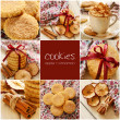 Apple cinnamon cookies collage — Stock Photo