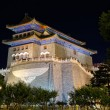 Qianmen-The Front Gate at night, Beijing in China — Stock Photo