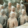Stock Photo: TerracottArmy near city of Xian, China