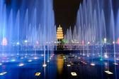Musical Fountain Show in Xian — Stock Photo