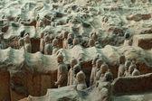 Terracotta Army near the city of Xian, China — Stock Photo