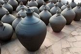 Traditional asian clay pottery — Stock Photo