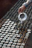 Lampes à huile bouddhiste — Photo