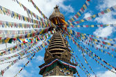 Top of the Buddhist Kathesimbhu Stupa — Stock Photo