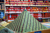 Colourful pyramid of spices — Stock Photo