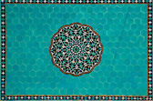 Islamic mosaic with blue tiles — Stock Photo