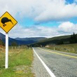 Stock Photo: Kiwi sign by road