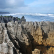Pancake rocks, New Zealand - Stock Photo