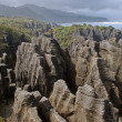 Stock Photo: Pancake rocks, New Zealand