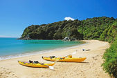 Kayaking in Abel Tasman National park, New Zealand — Foto de Stock