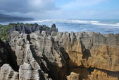 Pancake rocks, New Zealand — Stock Photo