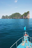 Boat trip to Koh Phi Phi island, Thailand — Stock Photo