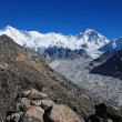 Stock Photo: Cho Oyu and Ngozumbglacier, Nepal