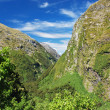 Stock Photo: Up to Mackinnon Pass, Milford track, New Zealand